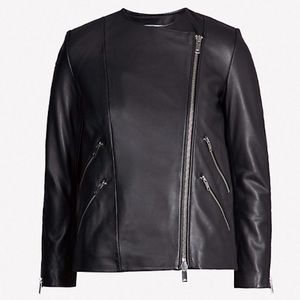 NEW Reiss Leather Jacket Tag Attached